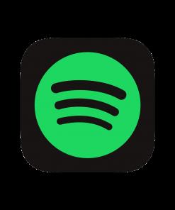 Spotify logo voor Spotify plays, saves en volgers kopen