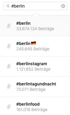 Lokale hashtags voorbeeld voor meer likes op Instagram